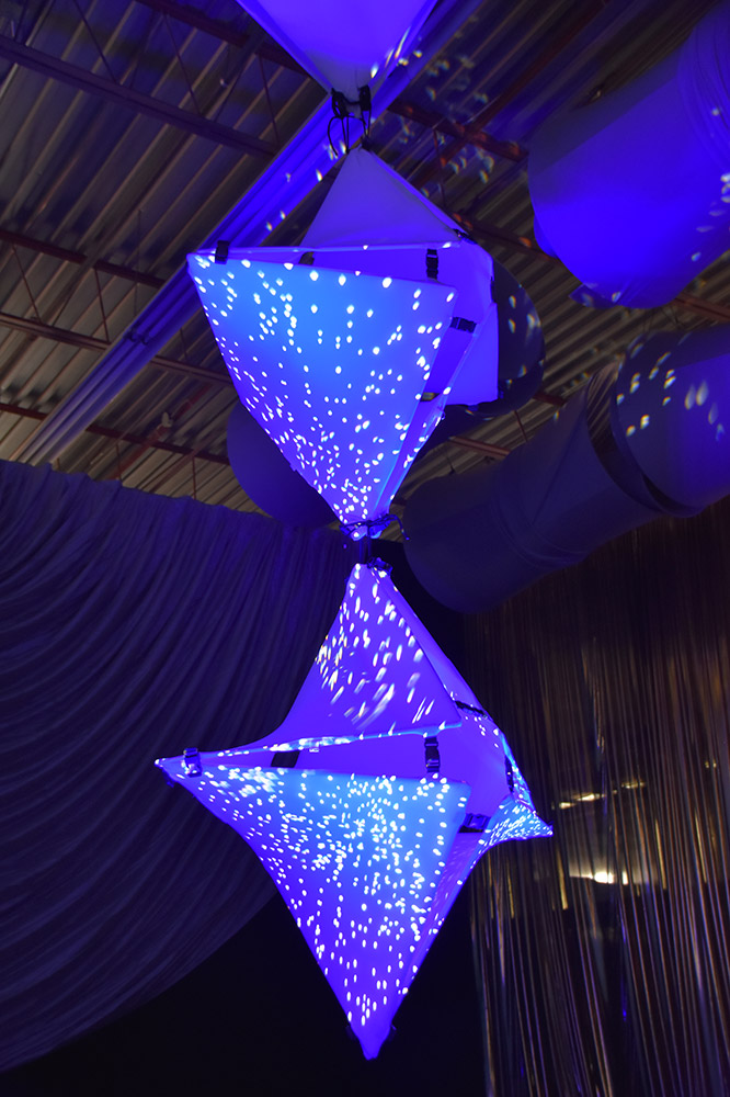 Blue Twistos Chandelier