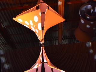 Orange Twistos Chandelier