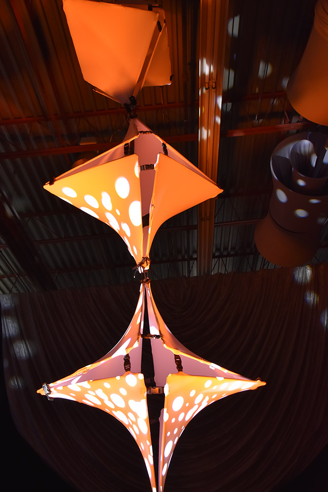 Orange Twistos Chandelier