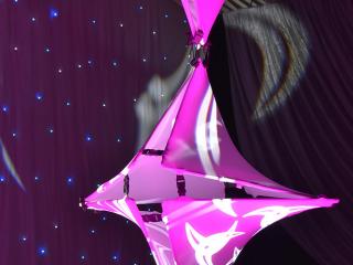 Purple Twistos Chandelier