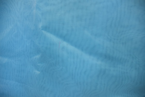 Sheer Fabric Blue Aqua