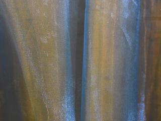 Specialty Fabric Organza Blue Gold