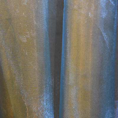 Specialty Fabric Organza Blue Gold