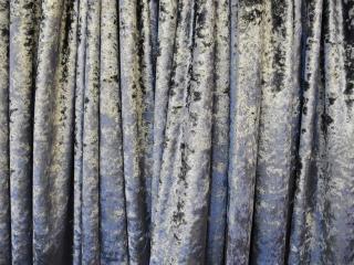 Velour Fabric Silver
