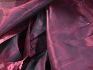 Waterfall Fabric Garnet Black